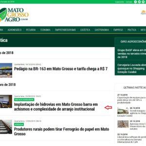 Mato Grosso Agro - Capa